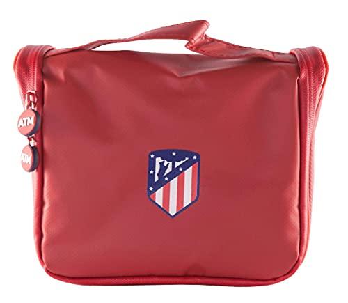 Atlético de Madrid Neceser de Viaje - Producto Oficial del Equipo, con Percha...
