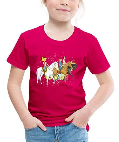 Bibi Und Tina Ausritt Mit Alexander Falkenstein Kinder Premium T-Shirt, 98-104, Dunkles Pink
