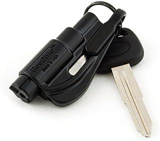 RESQME New Kit Seatbelt Cutter Emergency Survival Window Glass Breaker Keychain Tool Black