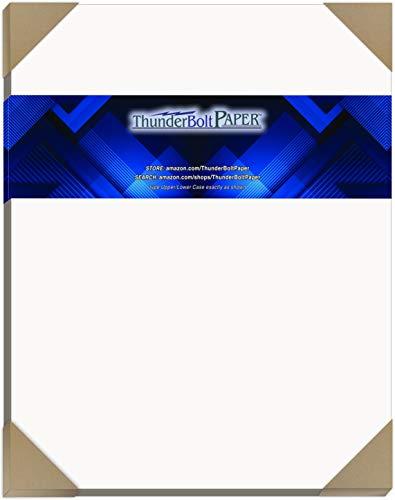 25hojas aglomerado 24pt blanco 1lado–11'x 14' (11x 14Inches) scrapbook|picture-frame tamaño–Luz Medio Peso Espesor cartón .024(punto) calibre con revestimiento blanco de cartón papel