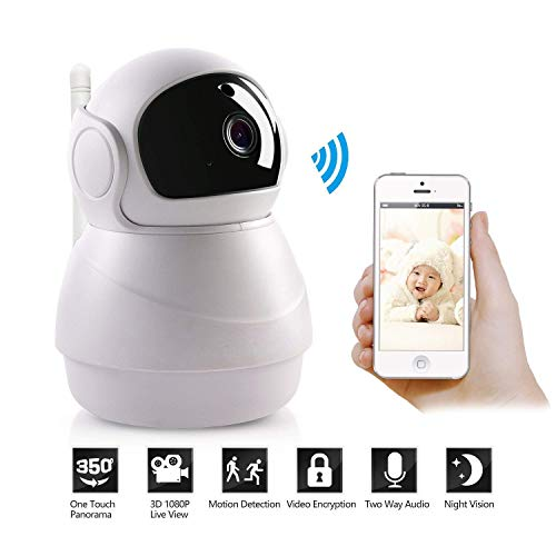 WIFI 1080P 2MP 80 ° / 355 ° PTZ IR Nachtzicht Home Security IP Camera Audio Video Babyfoon Gratis APP