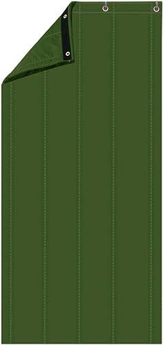 CAIJUN Rideau De Porte Personnalisable Pliable Coupe-vent Imperméable Garder Au Chaud Isolation Phonique Extérieure, 3 Couleurs, 22 Tailles (Couleur   vert, taille   110x220cm)