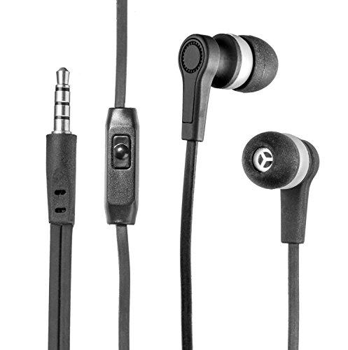 yayago InEar Stereo Headset schwarz für Doro Primo 365 3,5 mm Klinkenanschluss Schwarz