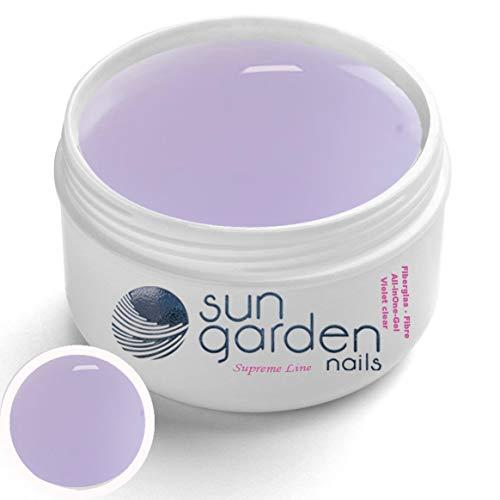Gel de fibre de verre UV ALL IN ONE VIOLET CLEAR 30 ml Supreme Line - Gel de finition avec couche de finition de protection