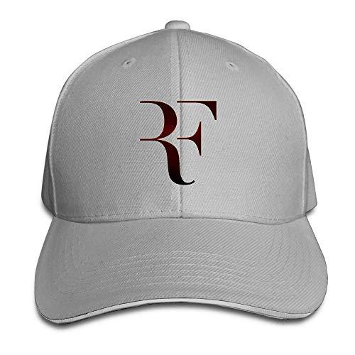 Pimkly Unisex Cappellini da Baseball Roger Federer Sandwich Baseball Caps For Unisex Adjustable Ash