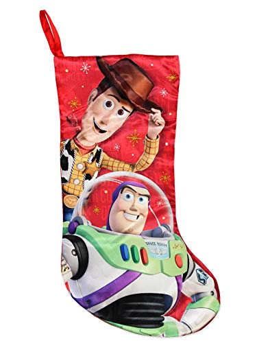 Kurt Adler Toy Story 4 Woody Buzz 19' Holiday Stocking (19', Red)