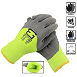 Better Grip BGWANS3/4 Safety Winter Insulated Double Lining Rubber Latex 3/4 Coated Work Gloves, 3...
