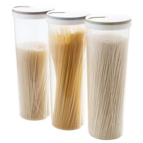 Contenedor de almacenamiento de alimentos, 3 unidades, caja de almacenamiento de grano seco de plástico multifuncional, para pasta de arroz y alimentos secos con tapa