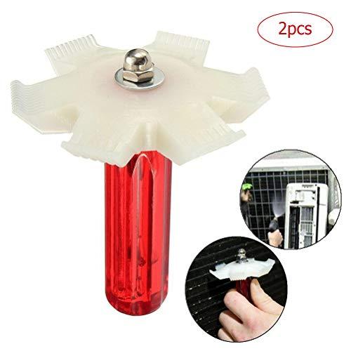 Macabolo 2 Pack condensator Fin Straightener AC Fin Com-airconditioning koeler voor het reinigen koeler verdamper