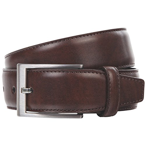 Lindenmann Mens leather belt/Mens belt, leather belt XL curved, middle brown, Größe/Size:110;Farbe/Color:marron
