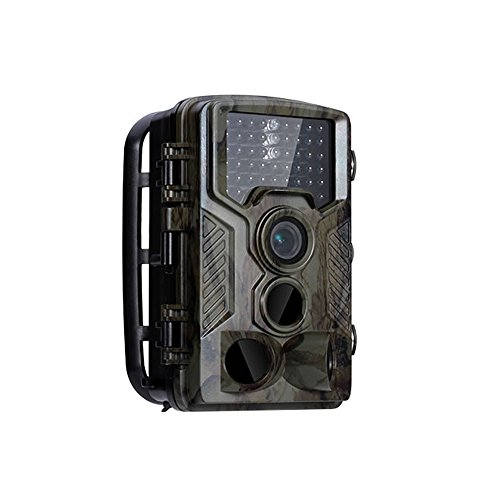 HD Wildlife Camera Train & Game Home Security, Infrared Scouting Cameras 16Megapixel 1080P Night Vision up to 65ft with 46pcs IR LEDs PIR 120 Degree and IP56 Waterproof