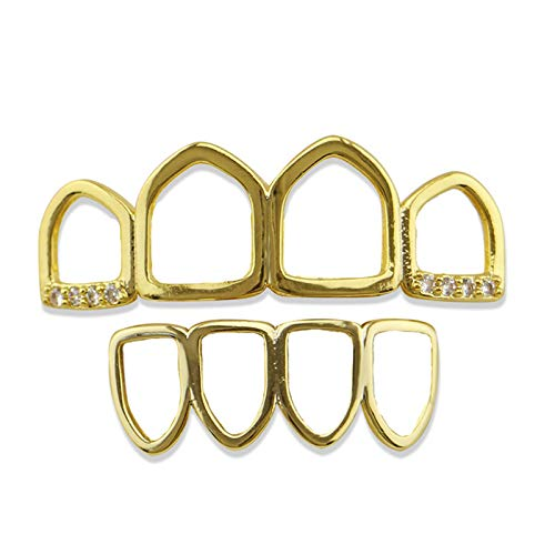 open face gold grill - 4