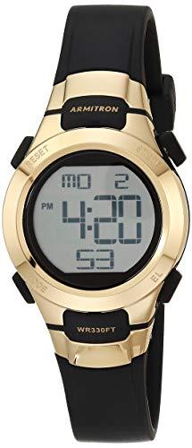 Armitron Sport Women's Quartz Sport Watch with Resin Strap, Black, 12 (Model: 45/7012GBK)