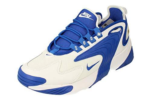 Nike Zoom 2K Uomo Running Trainers AO0269 Sneakers Scarpe (UK 11 US 12 EU 46, White Game Royal White 109)