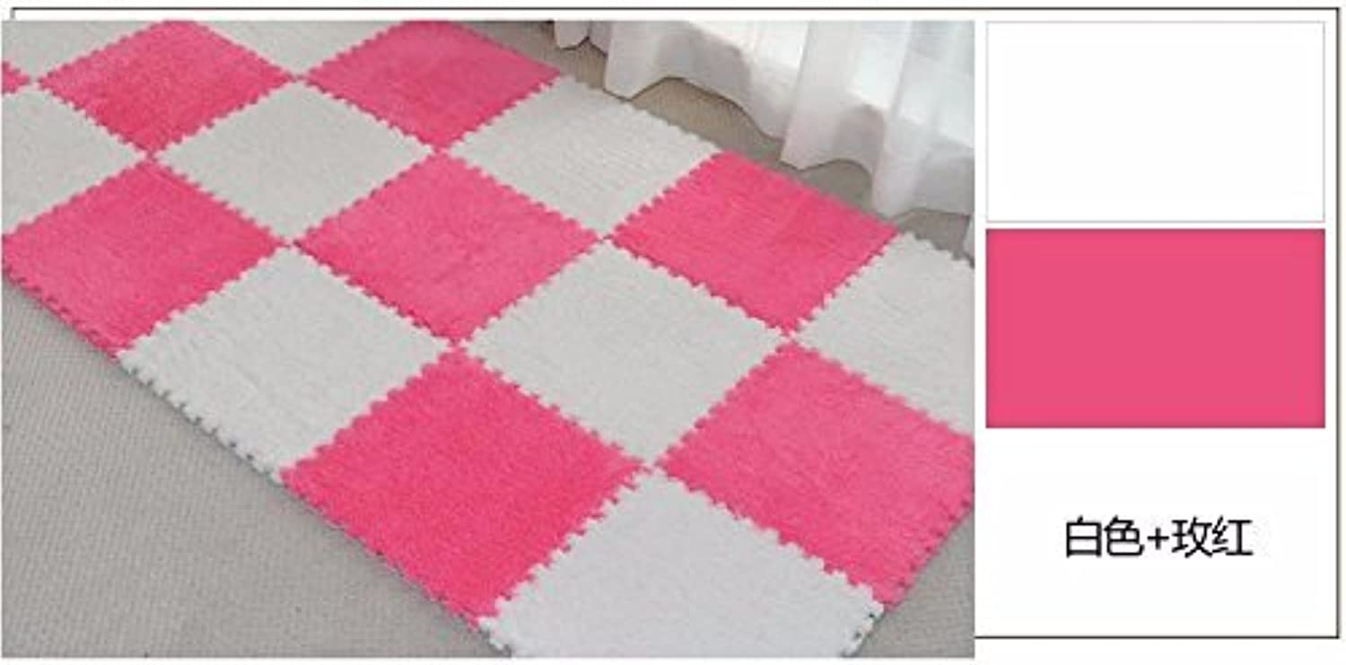 HOMEE Full Tiled Bedroom Tatami Tile Satin Spell Grounding Mats Encryption Thick Puzzle Foam Rollmat