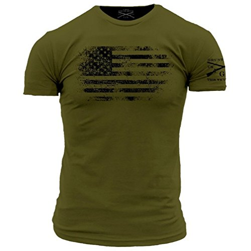 Grunt Style America Vintage Men's T-Shirt (XXX-Large) Military Green