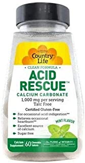 Country Life Acid Rescue Chewables - Mint 60-Count