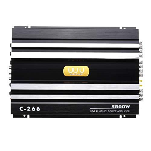 Nrpfell 5800W 4 Kanal Endstufe 12V Auto Audio Stereo Verst?Rker Bass Verst?Rker AMP Subwoofer