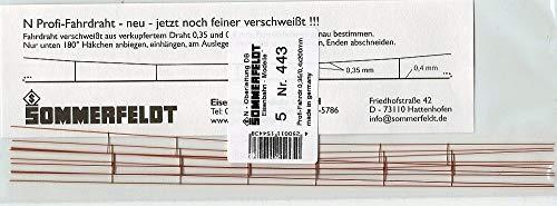 Sommerfeldt 443 Oberleitung N Profi Fahrdraht verkupfert 0,4*200 mm offen