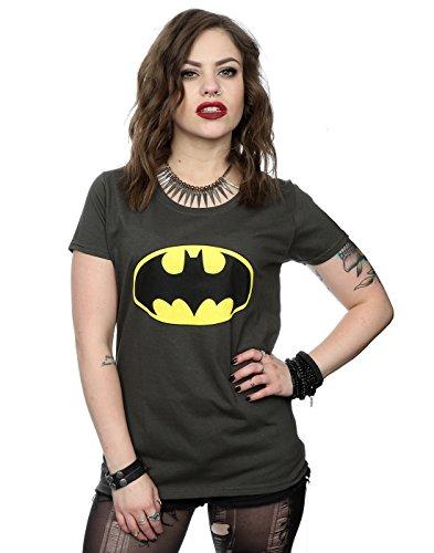 Collectors Mine Batman Logo, T-Shirt da Donna, grafite Luce, Large,grafite Luce