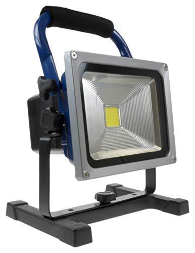 Hückmann 140966 XCell LED Arbeitscheinwerfer 20W (dimmbar, Akku auswechselbar, Li-ION 8800 mAh, 1600 Lumen)