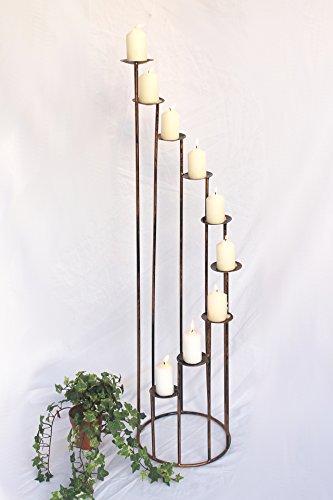 DanDiBo Porta-Candele Art.225 in Ferro battuto 102 cm Candelabro in Metallo