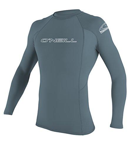 ONEILL WETSUITS Basic Skins L/S Rash Guard - Camiseta para Hombre, Unzutreffend, Evergreen, Basic Skins L/S Rash Guard, Hombre, Color Dusty Blue, tamaño Extra-Large