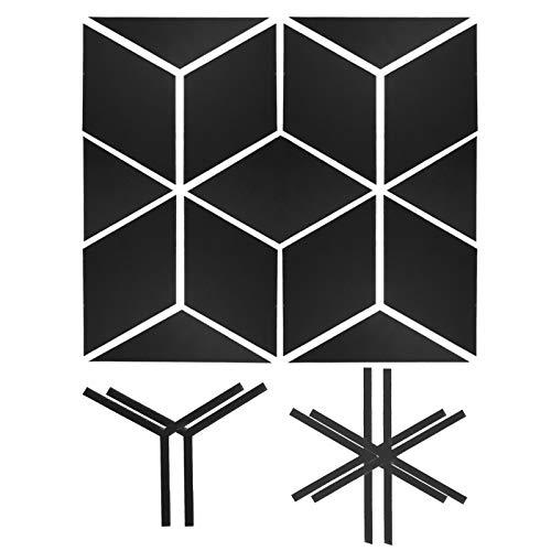 Spegelväggklistermärke, akryl självhäftande spegelväggdekor, sovsalar Handla hemma(Black trumpet)