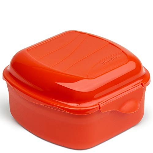 Rotho Memory Microwave Eierkocher 0,45l für die Mikrowelle, Kunststoff (PP) BPA-frei, rot, 0,45l (11,0 x 11,0 x 6,5 cm)