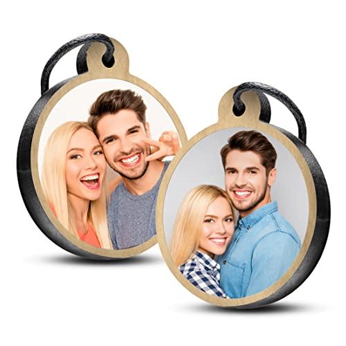 Premium schenkYOU Schlüsselanhänger aus Eichenholz - personalisierte Geschenkidee mit Foto