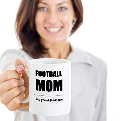 Fútbol mamá, Deportes, Fútbol, mamá, Niños, Hijo, Hija, Padre, Atleta, Taza divertida, Regalo, Día de la madre, Novedad taza de café taza de 11 oz
