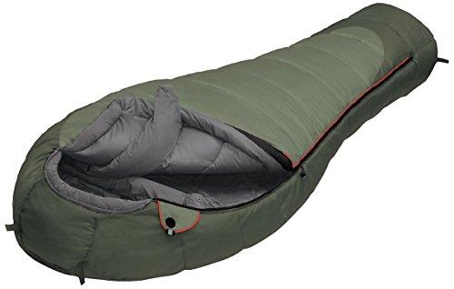 ALEXIKA Camping & Outdoor Schlafsack Aleut Compact, linke Reißverschluss Mumienschlafsäcke, oliv, 210 x 85 x 60 cm