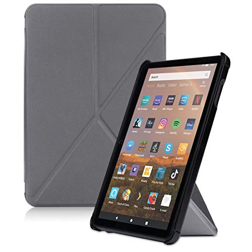 LISUONG MZYM AYD For Amazon Fire HD 8 (2020) Transformers Style Horizontal Flip Leather Case with Holder & Sleep/Wake-up Function (Color : Grey)