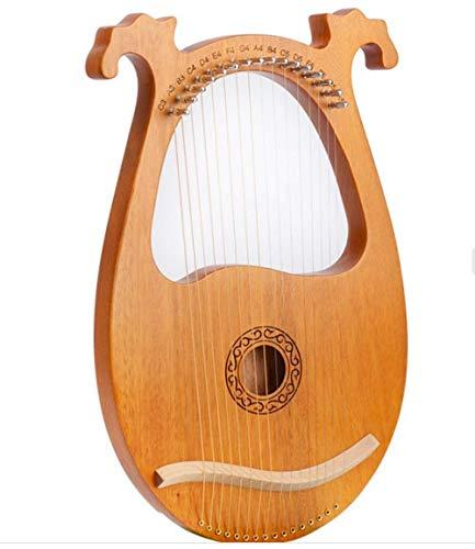Lyre Harp, 16 Saiten Mahagoni Body String Instrument Body Instrument Mit Stimmschlüssel Und Ersatzsaiten