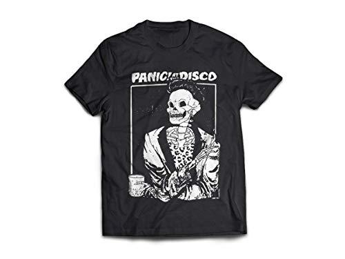 Camiseta/Camisa Masculina Panic! At The Disco Brendon Urie Tamanho:XG;Cor:Preto
