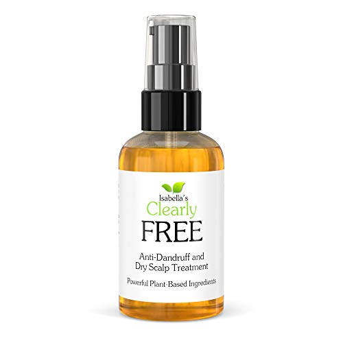 Isabella's Clearly FREE, Natural Anti Dandruff Oil   Itch Relief for Dry Scalp, Itchy Scalp, Dermatitis, Psoriasis   Jojoba, Cedarwood, Manuka, Tea Tree Oils   For Adults and Kids, Made in USA