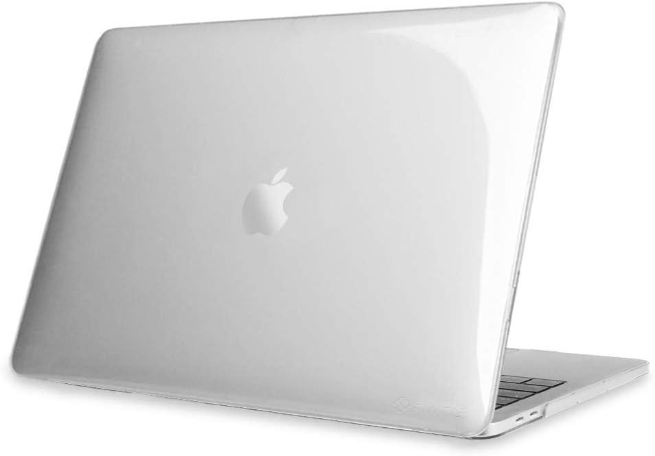 Fintie Funda Compatible con MacBook Pro 13 (2020-2016) Súper Delgada Carcasa Protectora de Plástico Duro para Modelo A2338 (M1)/A2251/A2289/A2159/A1989/A1706/A1708, Transparente