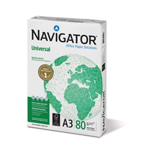 Navigator Universal A3, 80g/m², color blanco 5unidades
