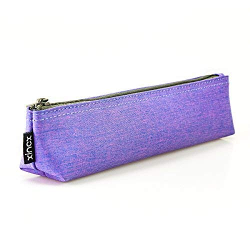Portable Stylish Pen Bag,Stationery Pouch,Multi-Colored Pencil Bag,Cosmetic Pouch Bag,Compact Zipper Bag (Purple)