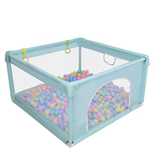 Babybox met mat, lichtgewicht draagbare activiteit, veilige speeltuin, beweegbaar park met ademende mesh voor baby's peuter, ballenbad hek veiligheidsbarrière voor kinderen