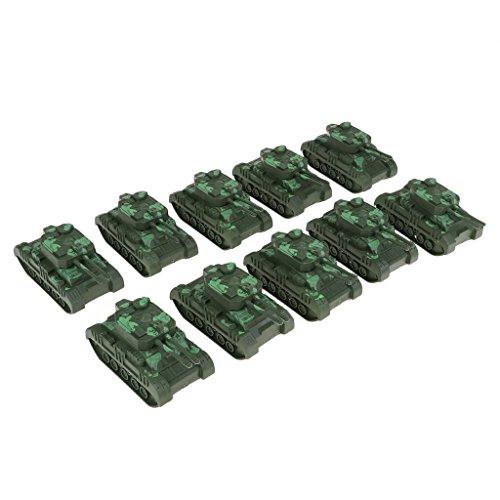 P Prettyia 10 pcs Militärfahrzeuge Spielautos Modelle aus Kunststoff Spielset Mini Militärspielzeugs für Kinder, Kleinkinder und Jungen