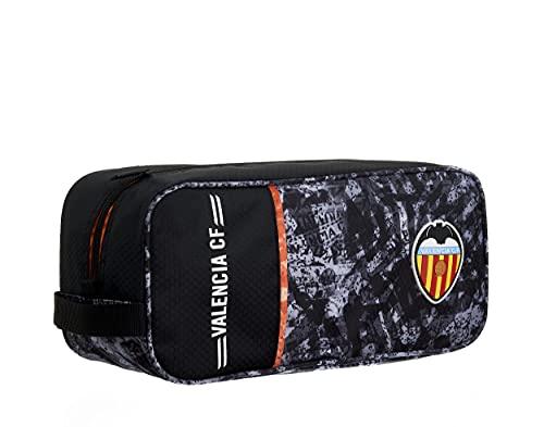 Zapatillero Valencia CF – 1 Bolsillo Cremallera Simple Asa para Transporte – Medidas 34x15x12 cm Color Negro