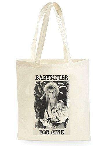 Uk Print King David Bowie Babysitter For Hire Poster, Einkaufstasche fürs Einkaufen, Picknick, Zuhause, Lagerung und Schule, tote bag