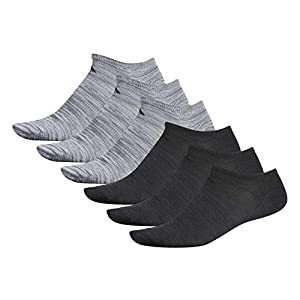 adidas Men's Superlite Low Cut Socks with arch compression (6-Pair),Onix - Clear Onix Space Dye/ Black Black - Night Grey S,Large, (Shoe Size 6-12)