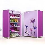JHDDP3 Porte-Chaussures à Cinq étages, Chaussures de Maison Organisateur à la Porte, Porte-poussière de Cabine de Chaussure Simple (Couleur: Pissenlit) (Color : Dandelion)