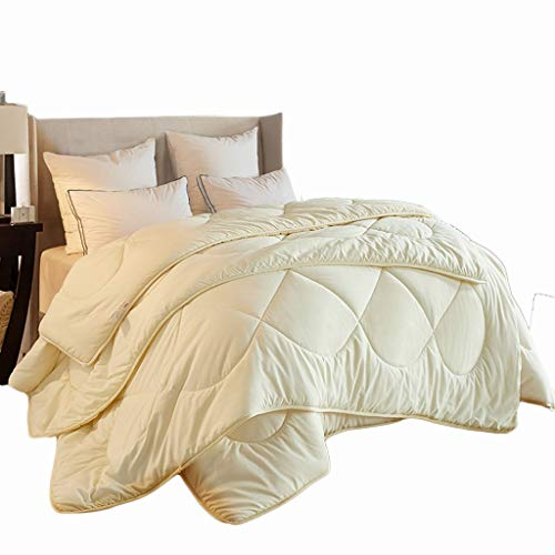 C-J-Xin Keep Warm Quilt, Son-in-law Multifunction Cold Protection Quilt Can Be Used in All Seasons Hotel Quality Fluffy Double Quilt Family quilts (Color : Yellow, Size : 220X240CM-4.2+5.2KG)