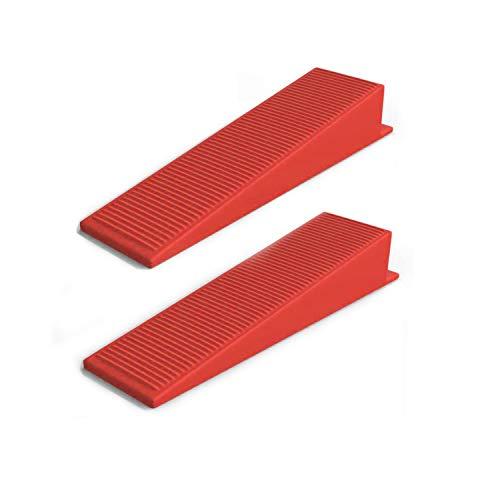 SETROVIC 200 cuñas de nivelación para azulejos – cuñas para sistema universal de nivelación de baldosas, adecuado para lengüetas de 1 mm, 2 mm, 3 mm, reutilizables.