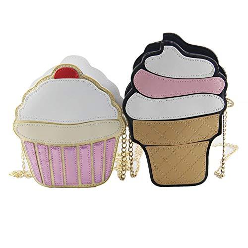 Crazywind Mädchen Lustige Eiscreme Kuchen Tasche Kleine Crossbody Taschen Für Nette Handtasche Handtaschen Kette Umhängetasche Party Tasche Frauen (Eis)