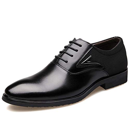 Men Shoes Genuine Leather Pointed Toe Dress Shoes Male Formal Zapatos Hombre Oxfords Shoes Men Black 6