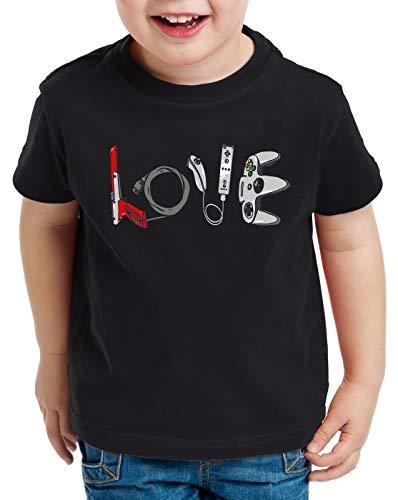 style3 Love Gamer Camiseta para Niños T-Shirt Video Consola Kart NES SNES,...